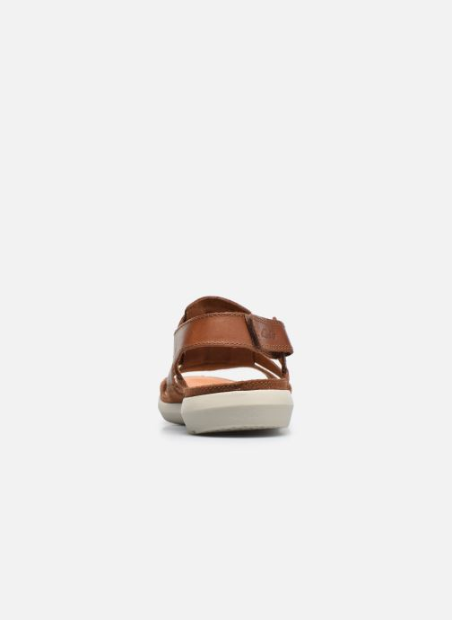 Sandals Clarks Trisand Bay Brown view from the right