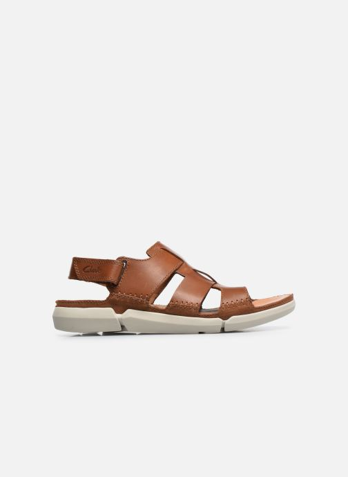 Sandals Clarks Trisand Bay Brown back view