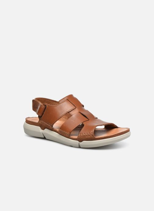 Sandals Clarks Trisand Bay Brown detailed view/ Pair view