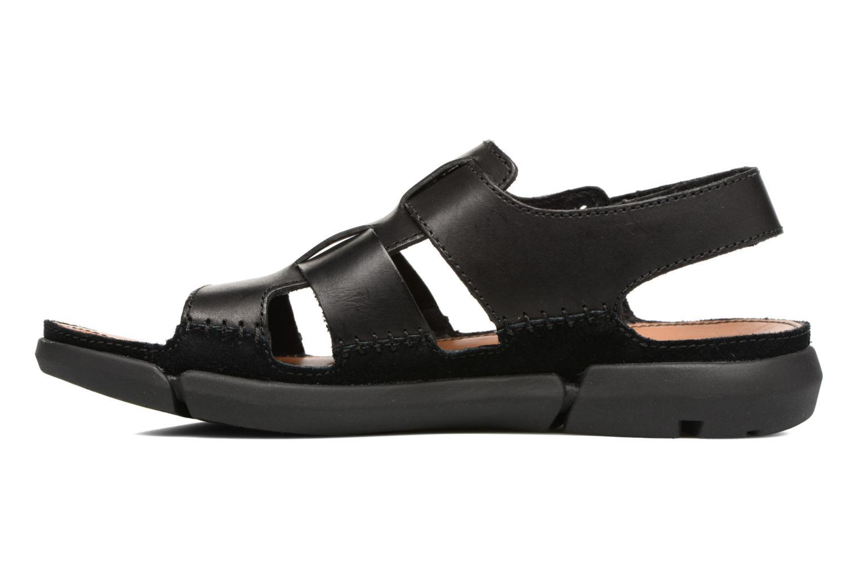 Sandales et nu-pieds Clarks Trisand Bay Noir vue face