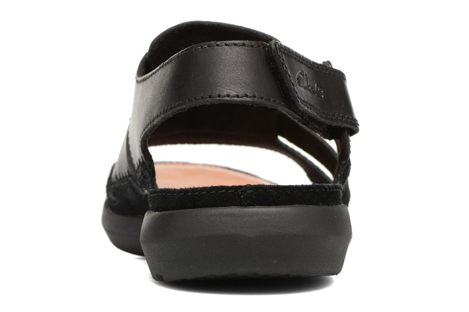 Sandals Clarks Trisand Bay Black view from the right