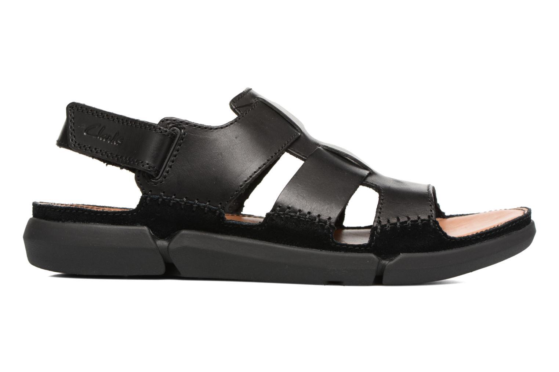 Sandales et nu-pieds Clarks Trisand Bay Noir vue derrière