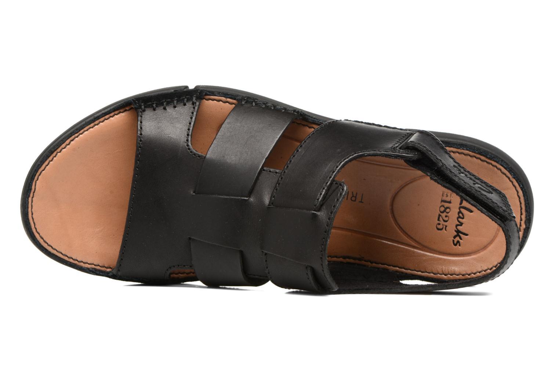 Sandales et nu-pieds Clarks Trisand Bay Noir vue gauche