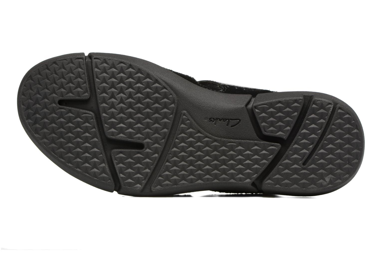 Sandales et nu-pieds Clarks Trisand Bay Noir vue haut