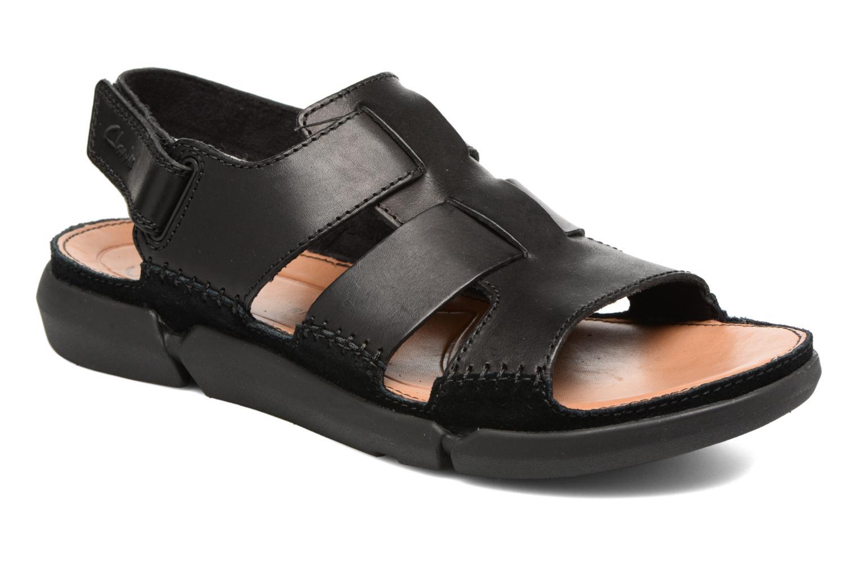 Sandales et nu-pieds Clarks Trisand Bay Noir vue détail/paire