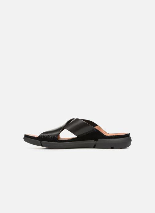 Sandales et nu-pieds Clarks Trisand Cross Noir vue face