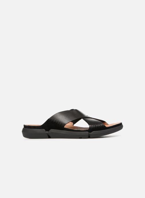 Sandales et nu-pieds Clarks Trisand Cross Noir vue derrière