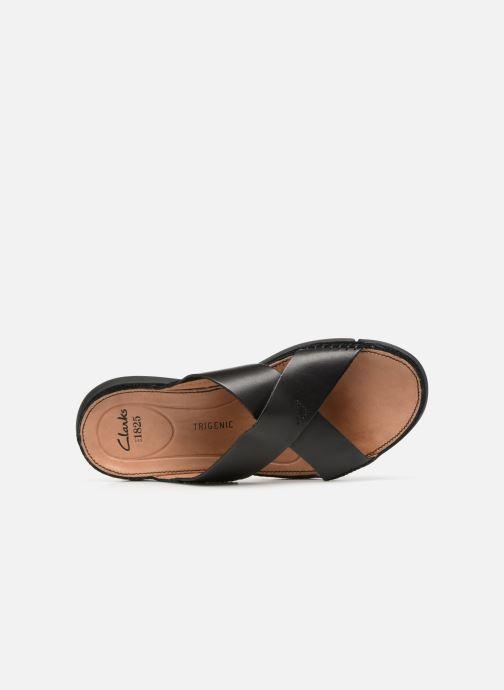 Sandales et nu-pieds Clarks Trisand Cross Noir vue gauche