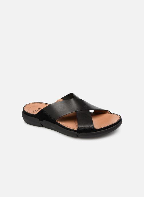 Sandales et nu-pieds Clarks Trisand Cross Noir vue détail/paire