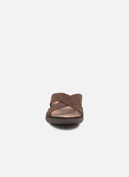 Sandalen Clarks Trisand Cross braun schuhe getragen