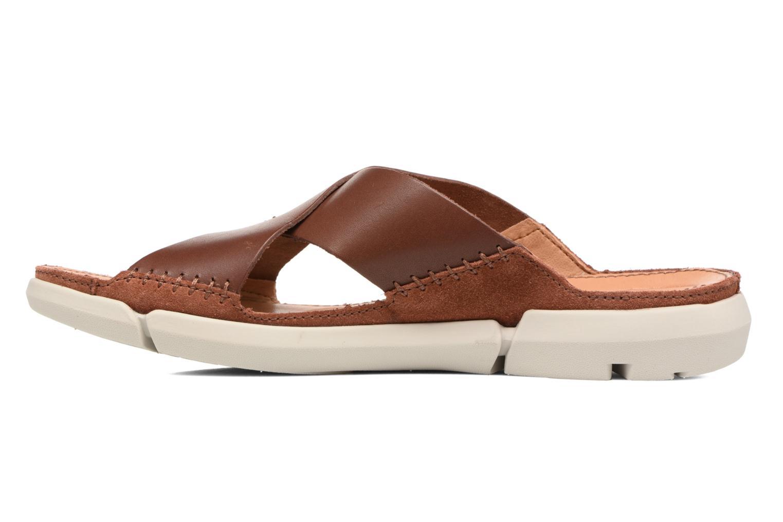 Sandales et nu-pieds Clarks Trisand Cross Marron vue face