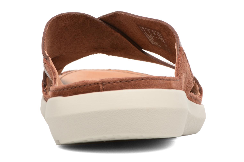 Sandales et nu-pieds Clarks Trisand Cross Marron vue droite