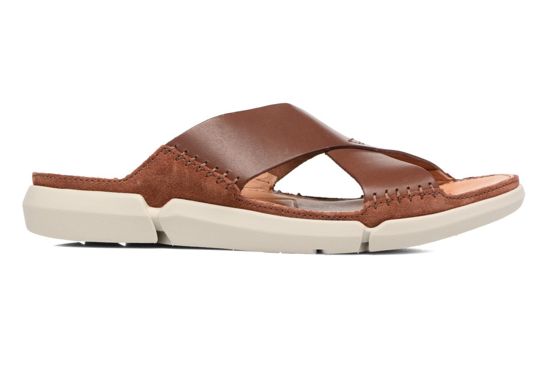 Sandales et nu-pieds Clarks Trisand Cross Marron vue derrière