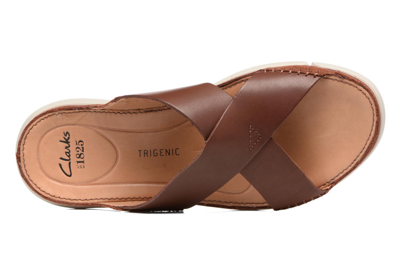 Sandales et nu-pieds Clarks Trisand Cross Marron vue gauche