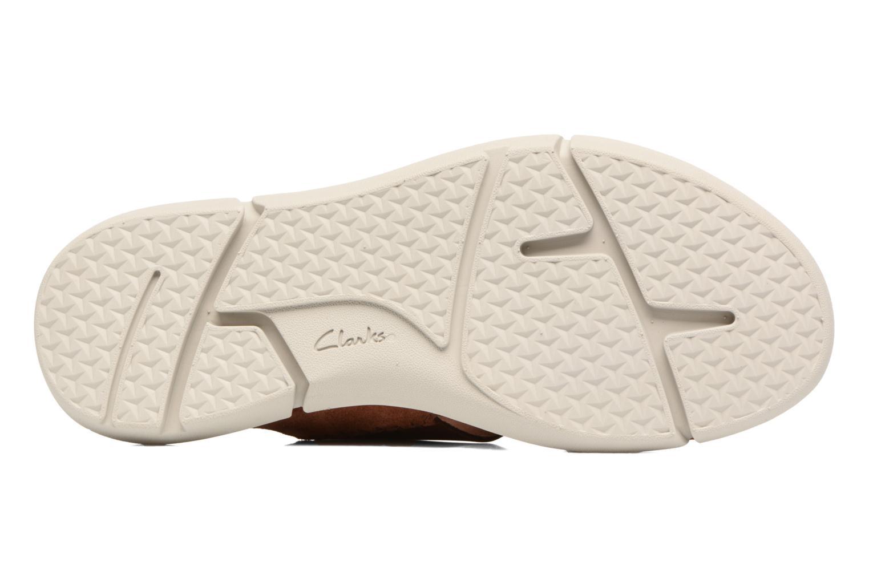 Sandales et nu-pieds Clarks Trisand Cross Marron vue haut