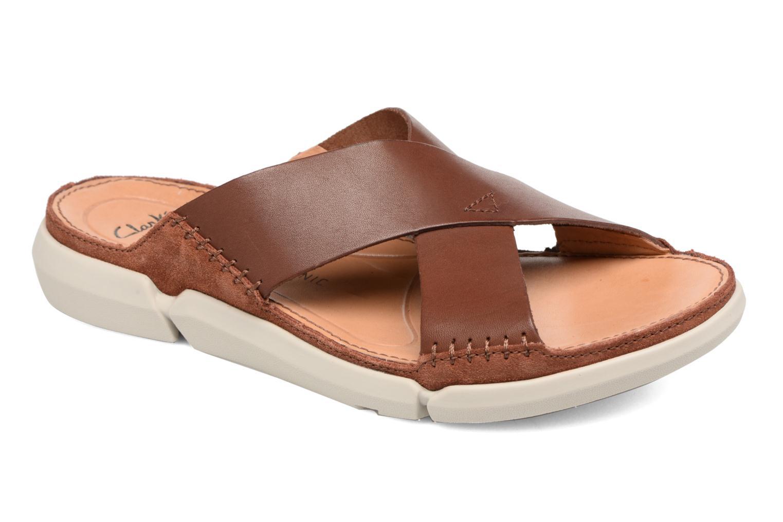 Sandales et nu-pieds Clarks Trisand Cross Marron vue détail/paire