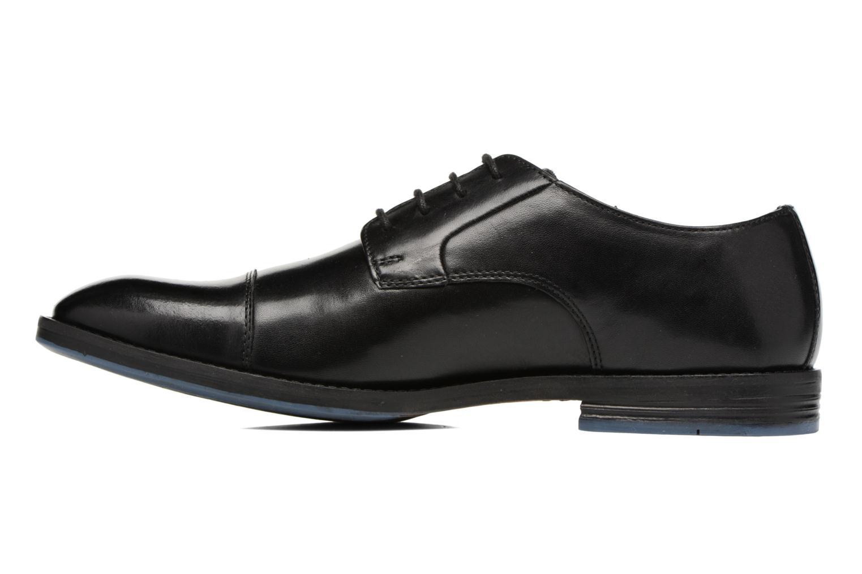 Zapatos con cordones Clarks Prangley Cap Negro vista de frente