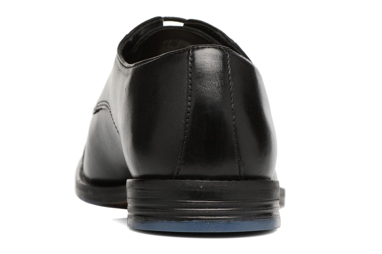 Zapatos con cordones Clarks Prangley Cap Negro vista lateral derecha