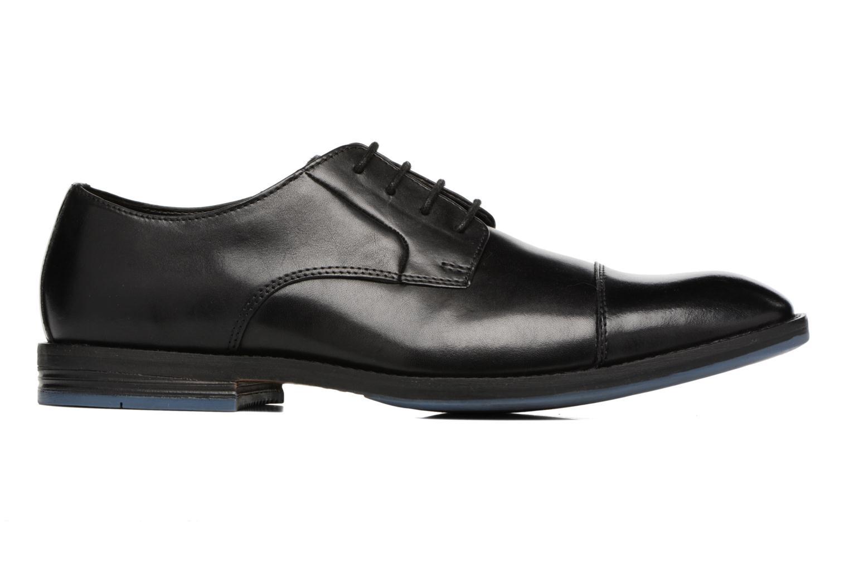 Zapatos con cordones Clarks Prangley Cap Negro vistra trasera