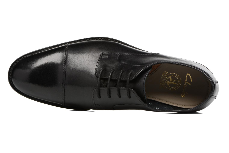 Zapatos con cordones Clarks Prangley Cap Negro vista lateral izquierda