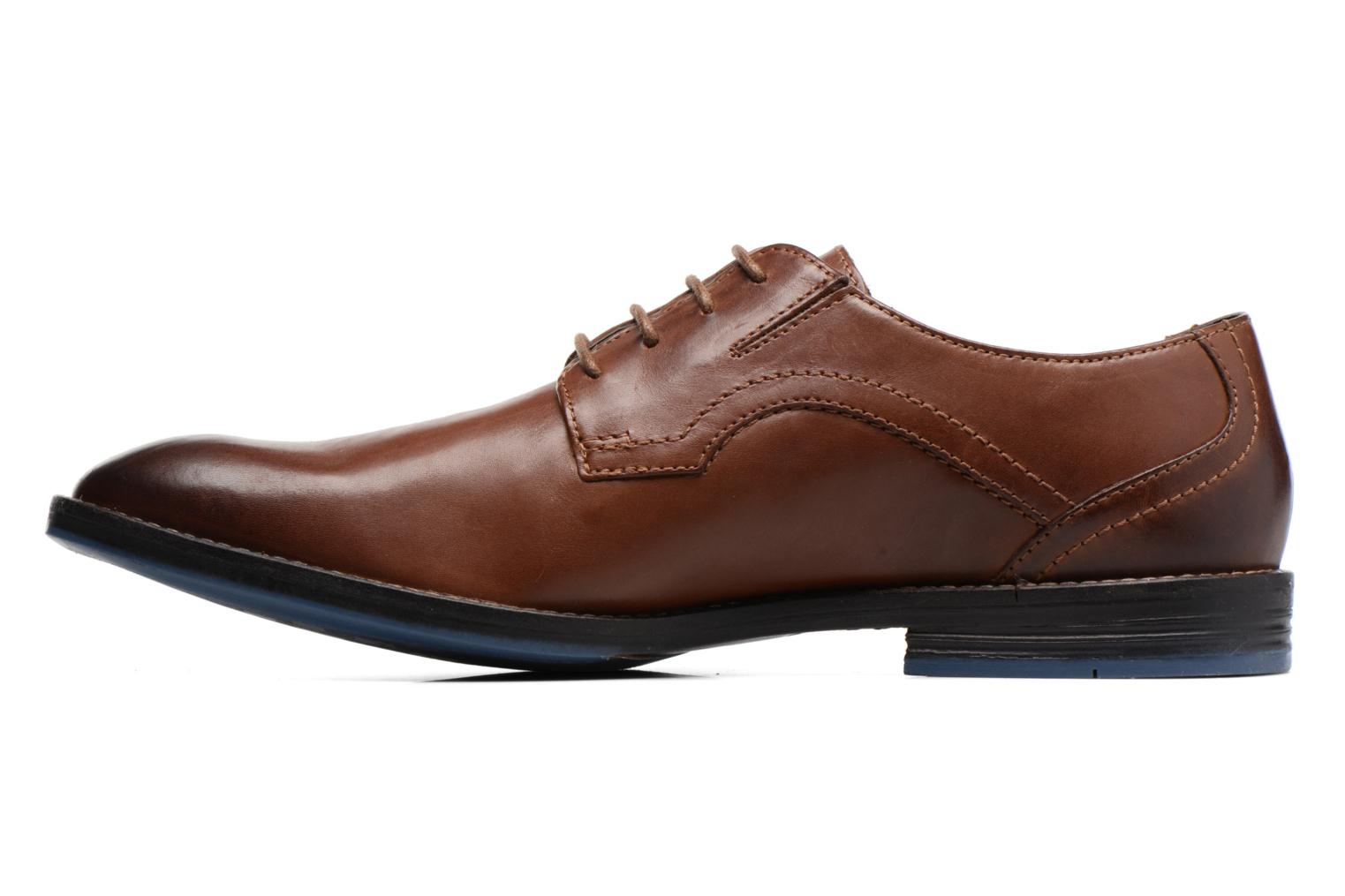 Chaussures à lacets Clarks Prangley Walk Marron vue face
