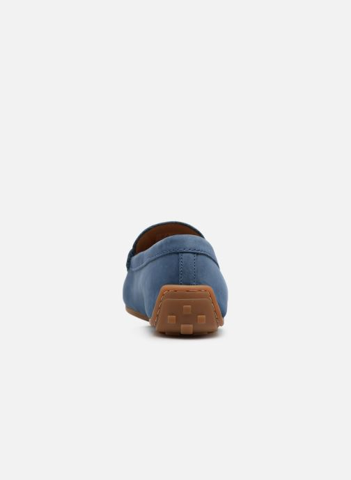 Loafers Clarks Reazor Drive Blue view from the right