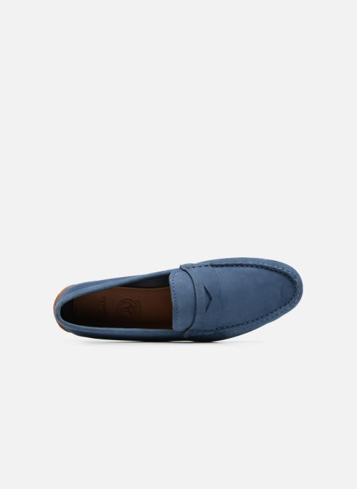 Loafers Clarks Reazor Drive Blue view from the left