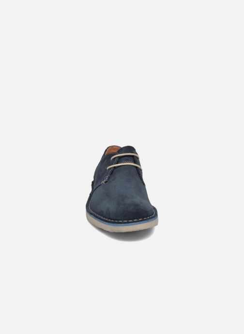 Jareth À Chaussures Clarks Walk Lacets Navy Suede 9WHE2ID