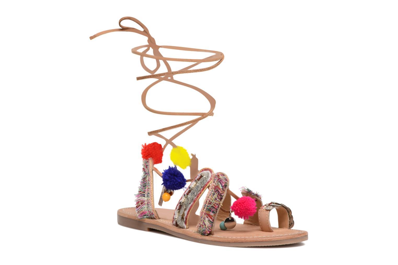 Sandales et nu-pieds Les Tropéziennes par M Belarbi Orient Multicolore vue détail/paire