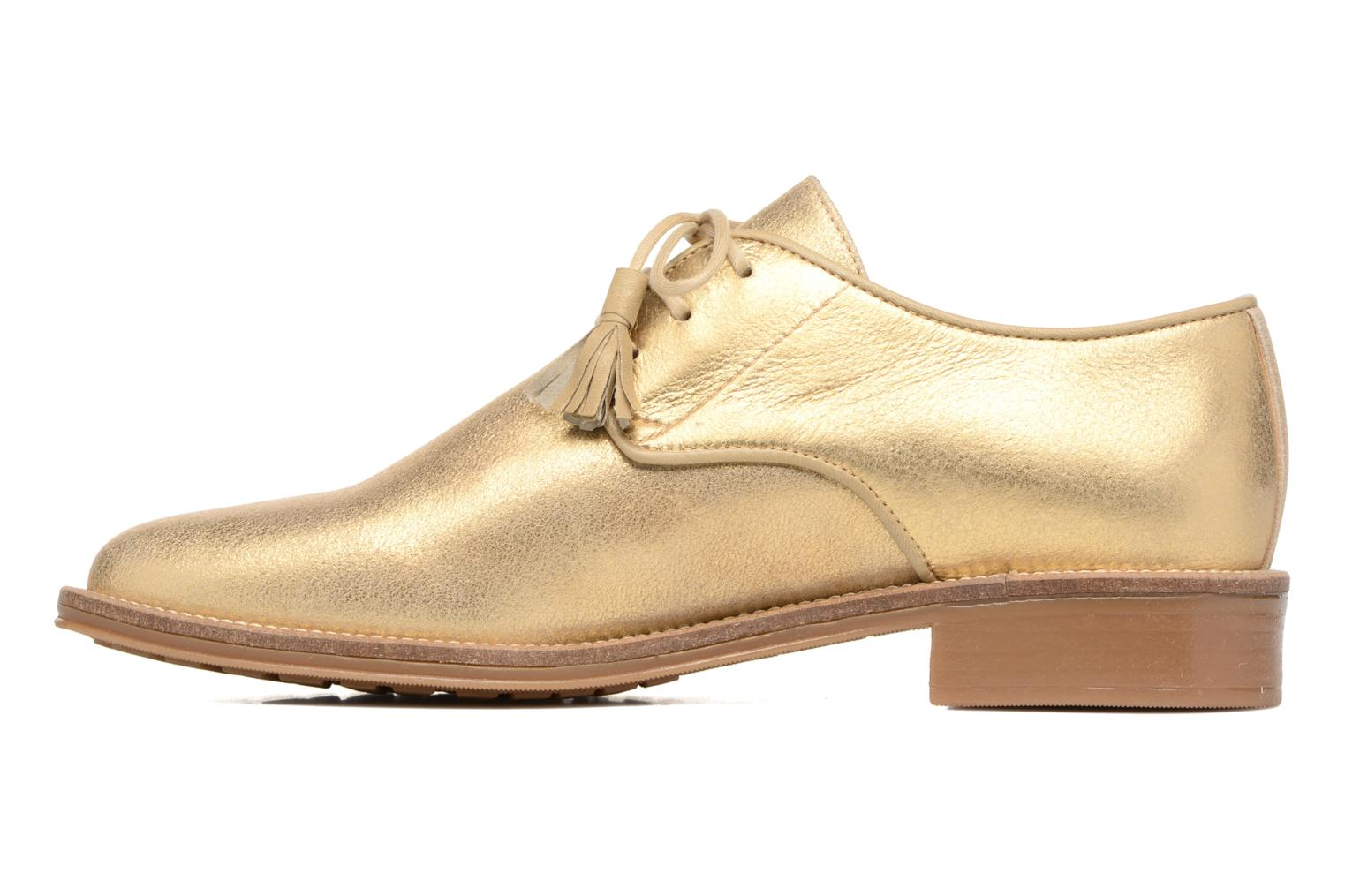 Lace-up shoes Schmoove Woman Newton Derby Bronze and Gold front view