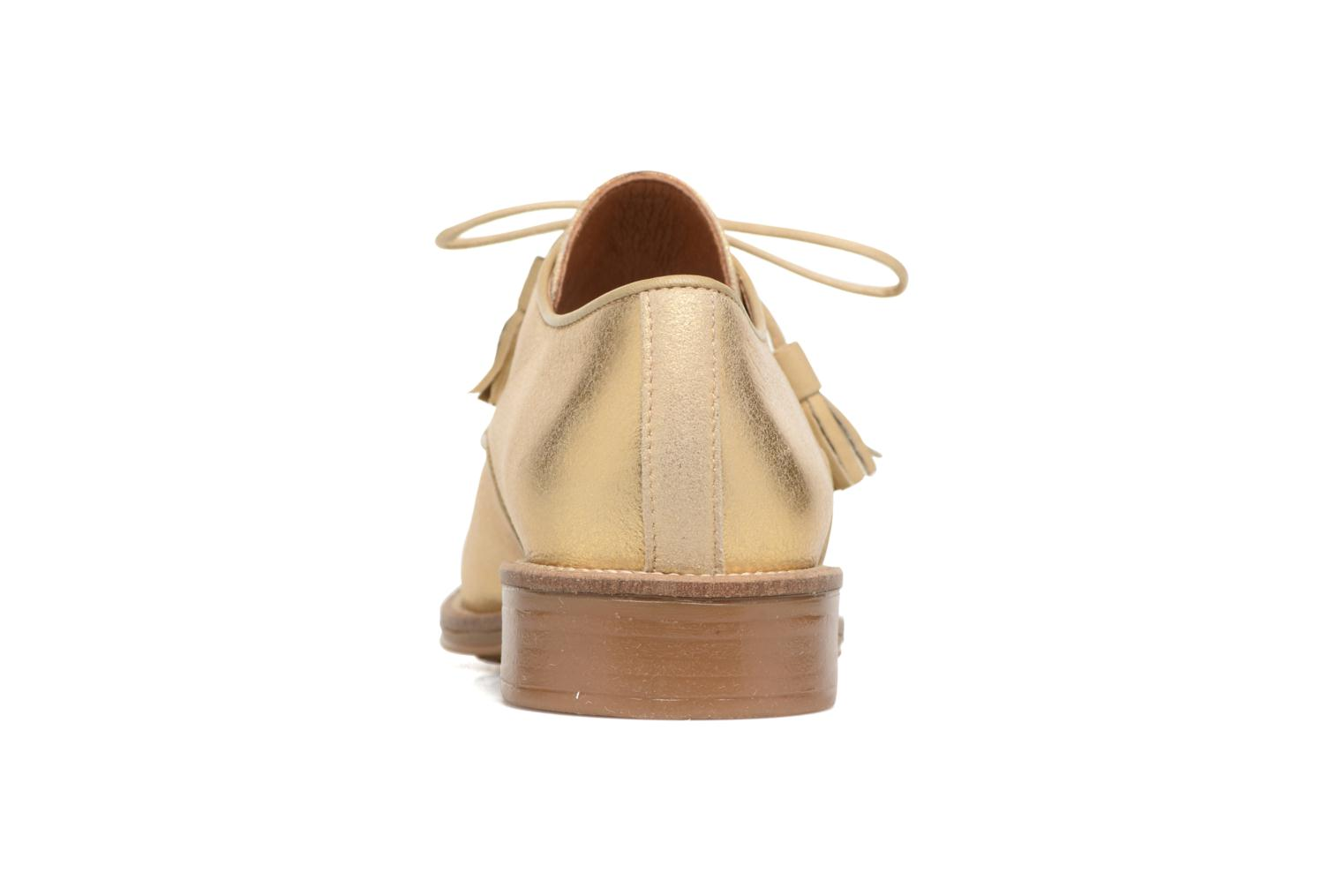 Lace-up shoes Schmoove Woman Newton Derby Bronze and Gold view from the right