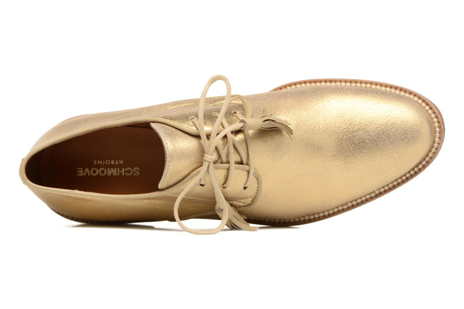 Lace-up shoes Schmoove Woman Newton Derby Bronze and Gold view from the left