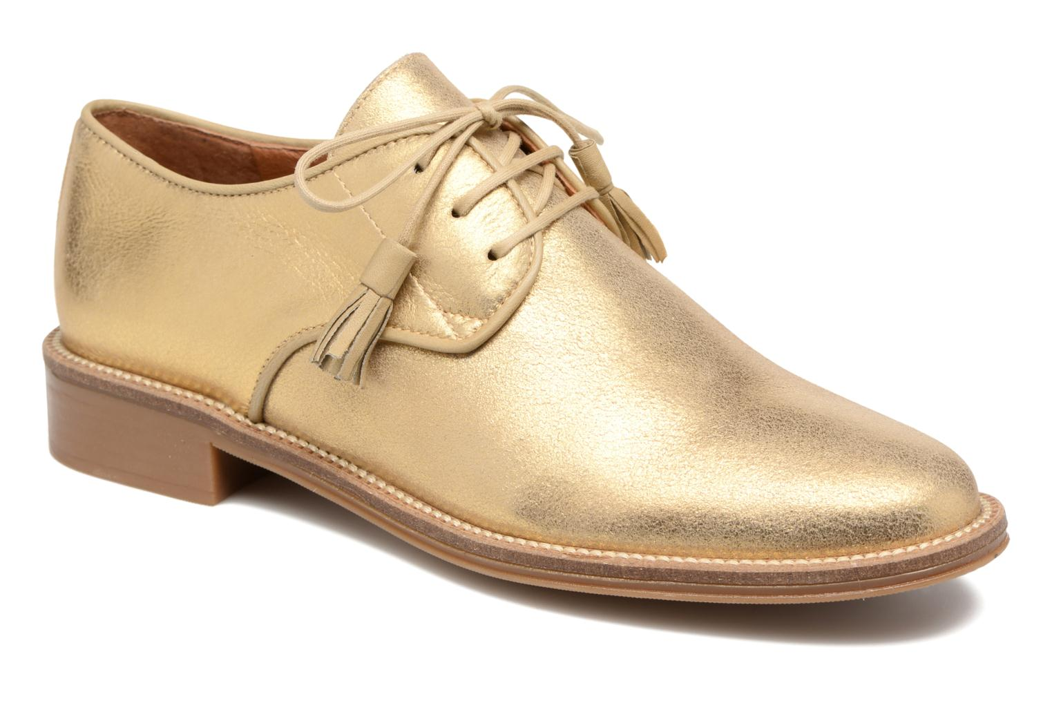 Lace-up shoes Schmoove Woman Newton Derby Bronze and Gold detailed view/ Pair view