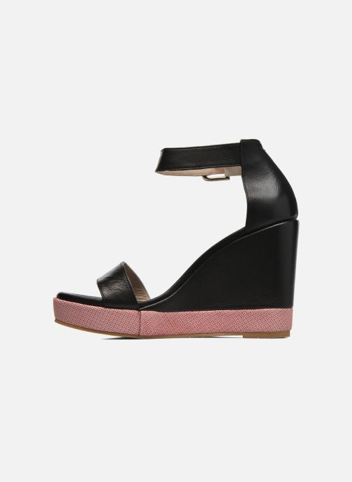 Sandales et nu-pieds Anaki Wave Noir vue face