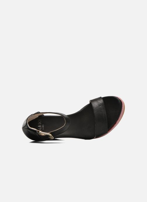 Sandales et nu-pieds Anaki Wave Noir vue gauche