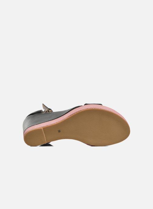 Sandales et nu-pieds Anaki Wave Noir vue haut