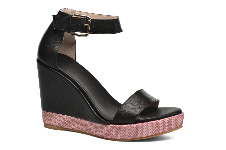 Sandaler Anaki Wave Sort detaljeret billede af skoene