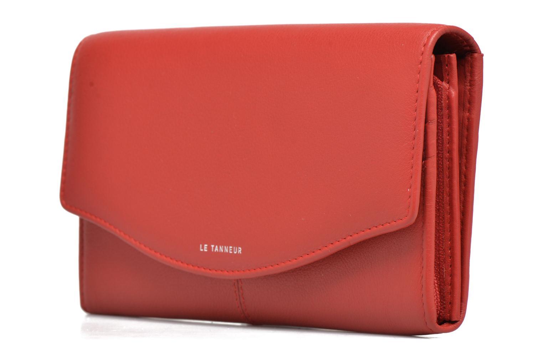 Wallets & cases Le Tanneur VALENTINE Porte-monnaie long anti-RFID Red front view