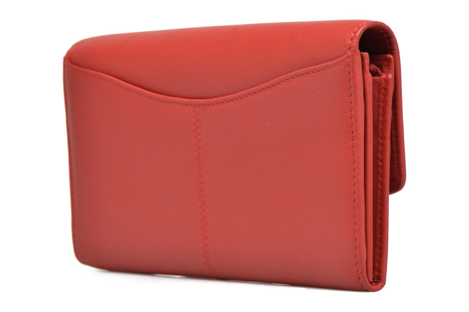 Wallets & cases Le Tanneur VALENTINE Porte-monnaie long anti-RFID Red view from the left
