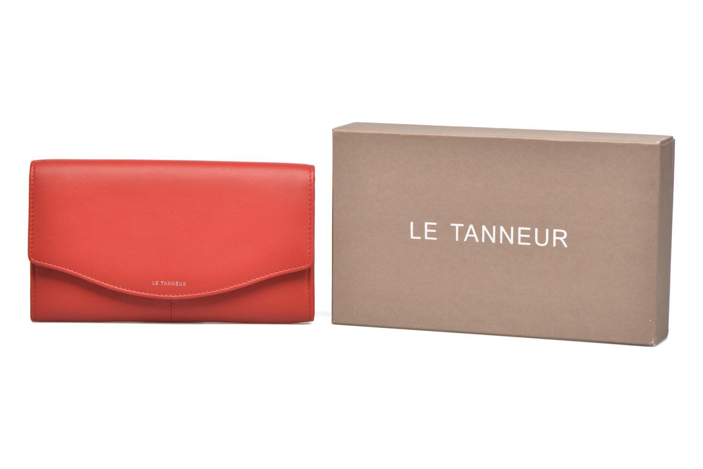 Punge og etuier Le Tanneur VALENTINE Porte-monnaie long anti-RFID Rød detaljeret billede af skoene