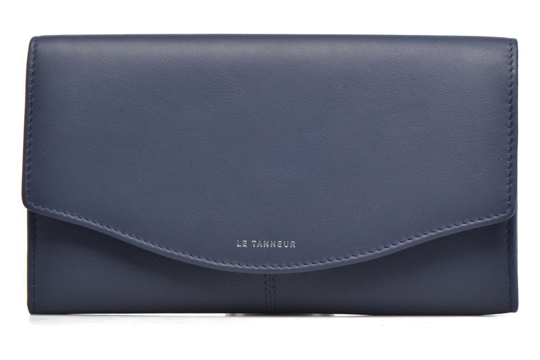 Marroquinería pequeña Le Tanneur VALENTINE Porte-monnaie long anti-RFID Azul vista lateral izquierda