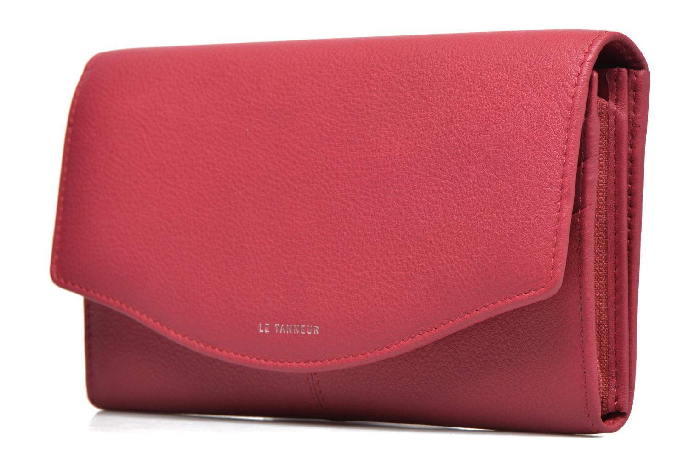 Wallets & cases Le Tanneur VALENTINE Porte-monnaie long anti-RFID Pink model view