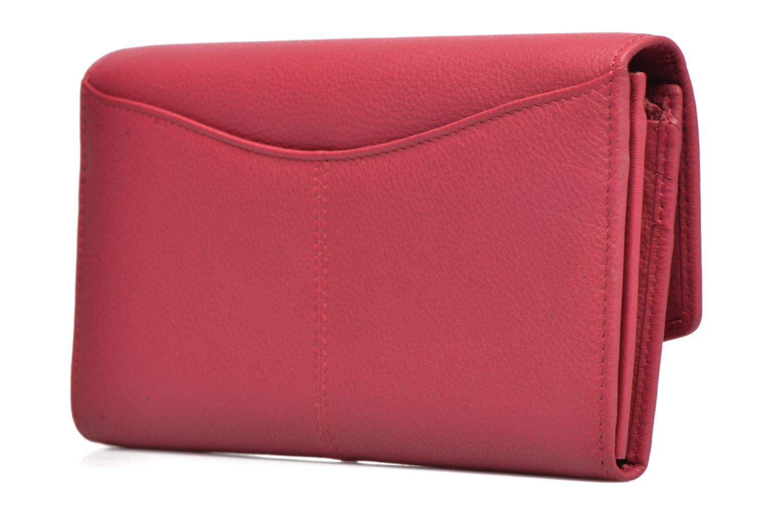 Wallets & cases Le Tanneur VALENTINE Porte-monnaie long anti-RFID Pink view from the right