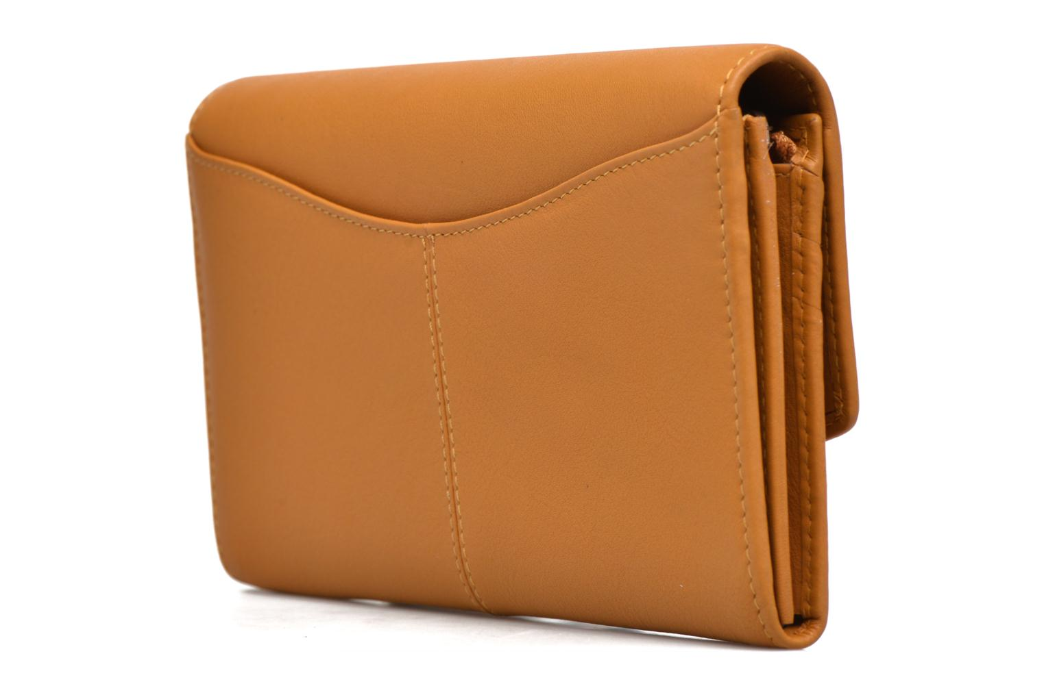Wallets & cases Le Tanneur VALENTINE Porte-monnaie long anti-RFID Yellow view from the right