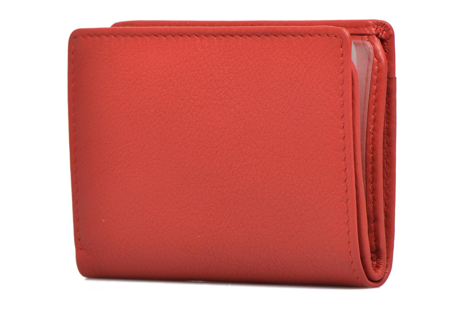 Wallets & cases Le Tanneur VALENTINE Porte-cartes anti-RFID Red view from the right