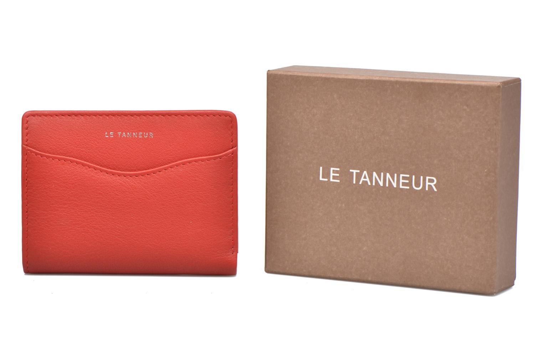 Petite Maroquinerie Le Tanneur VALENTINE Porte-cartes anti-RFID Rouge vue détail/paire