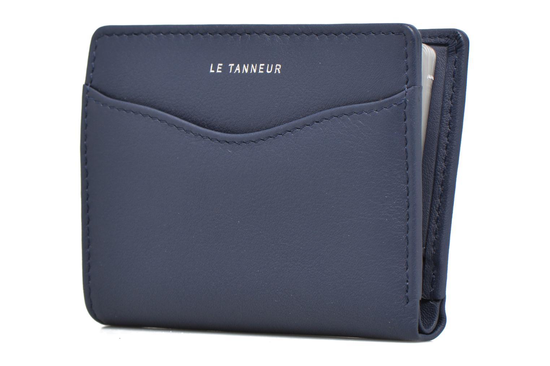 Portemonnaies & Clutches Le Tanneur VALENTINE Porte-cartes anti-RFID blau schuhe getragen