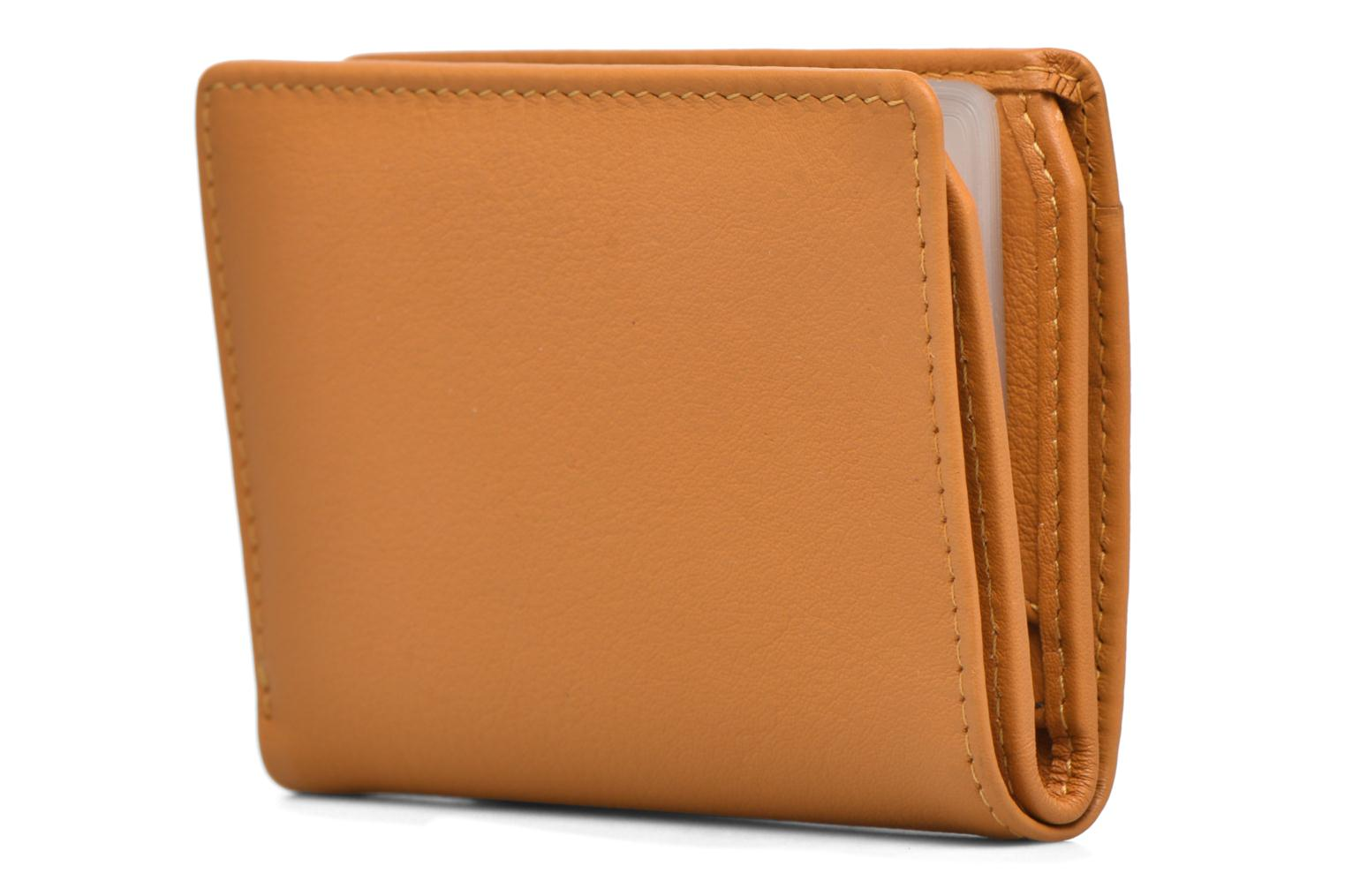 Wallets & cases Le Tanneur VALENTINE Porte-cartes anti-RFID Yellow view from the left