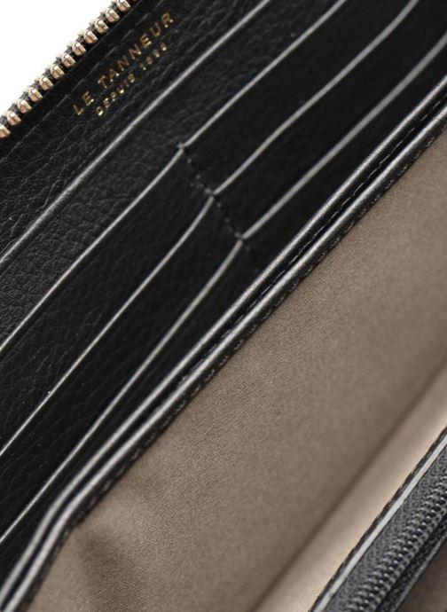 Kleine lederwaren Le Tanneur CAPUCINE Porte-monnaie long zippé Zwart achterkant