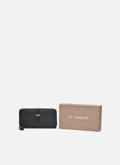 Petite Maroquinerie Le Tanneur CAPUCINE Porte-monnaie long zippé Noir vue détail/paire